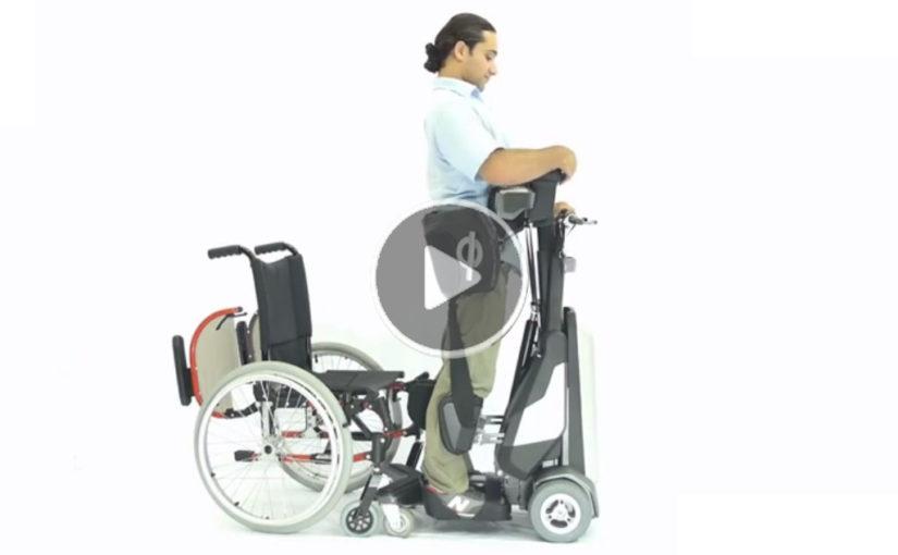 كرسي متحرك للمقعدين بإمكانيات عالية، يمكن المقعد من الوقوف